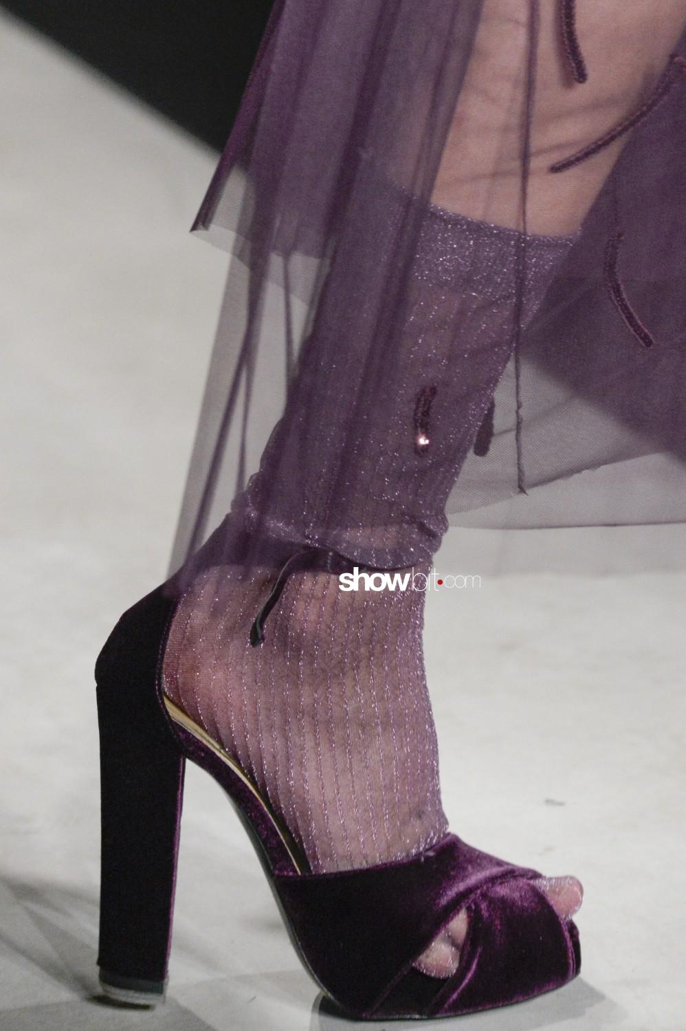 Ermanno Scervino close-up Women Fall Winter 2020 Milano shoes