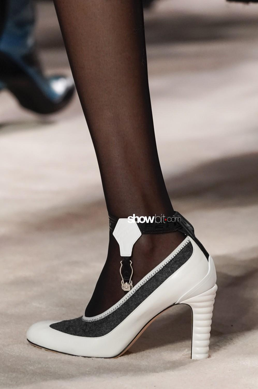 Fendi close-up Women Fall Winter 2020 Milano shoes