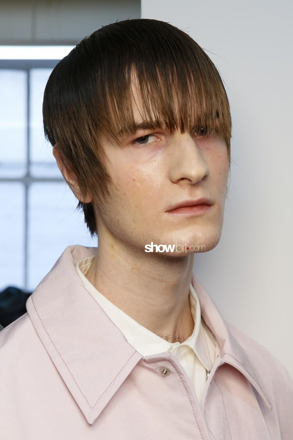 Keenkee beauty backstage Men Fall Winter 2020 2021 New York
