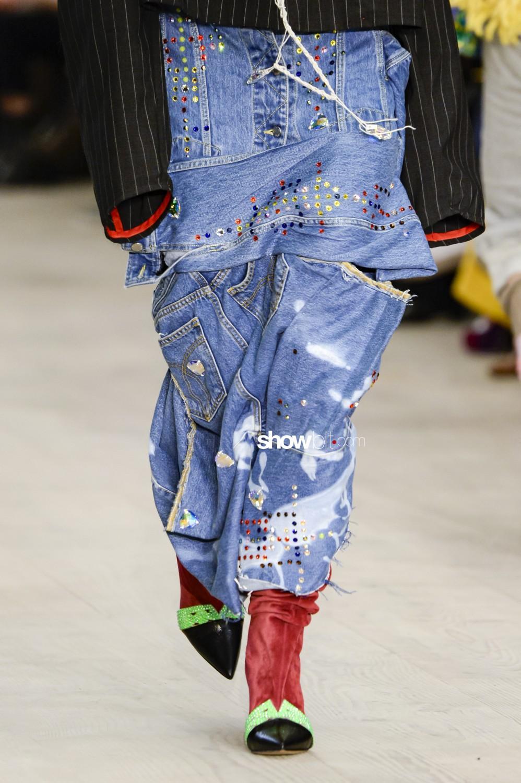 Matty Bovan close-up Women Fall Winter 2020 London