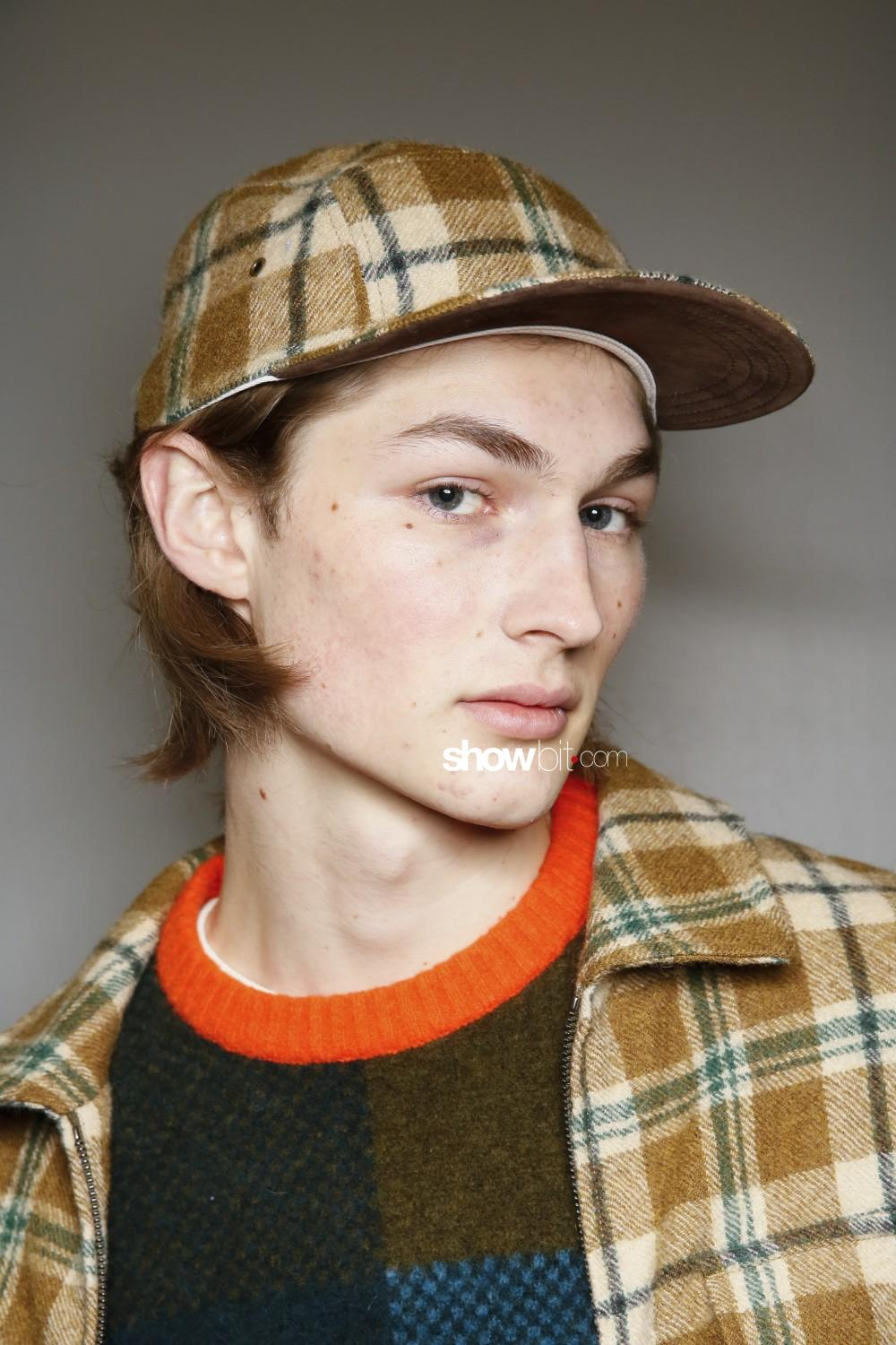 Todd Snyder beauty backstage Men Fall Winter 2020 2021 New York