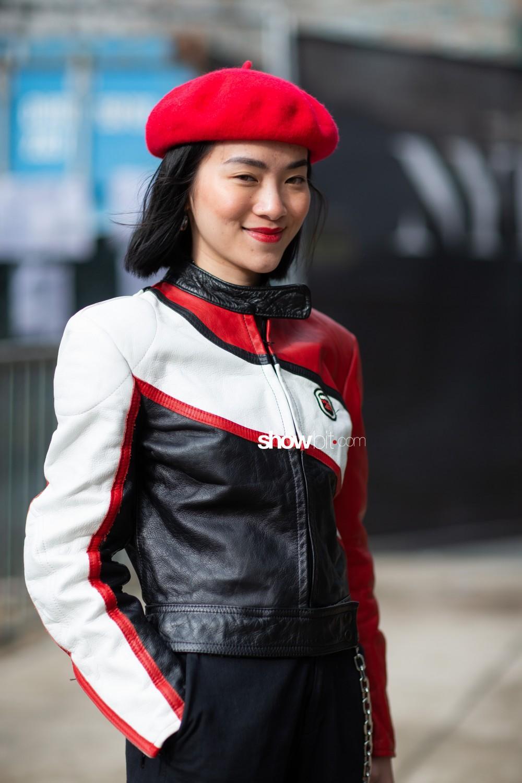Vivienne Hu people street style Women Fall Winter 2020 New York