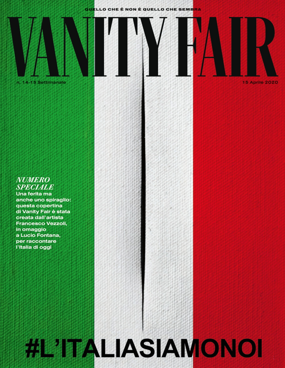 Vanity Fair Italia april 2020 cover