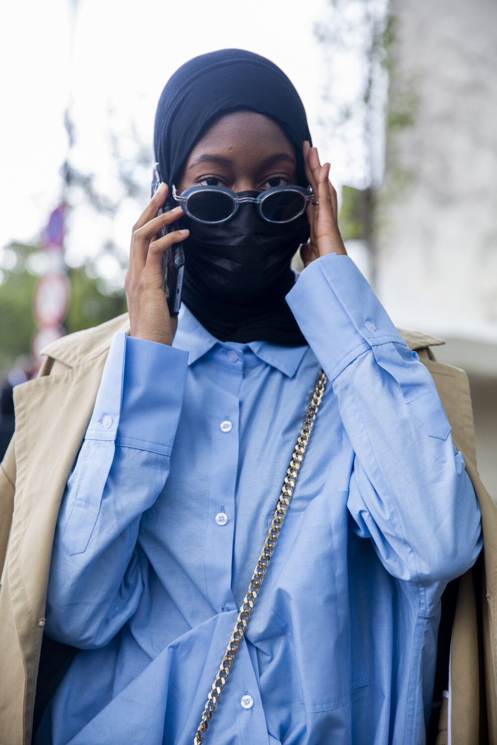 Hermès people street style Women Spring Summer 2021 Paris